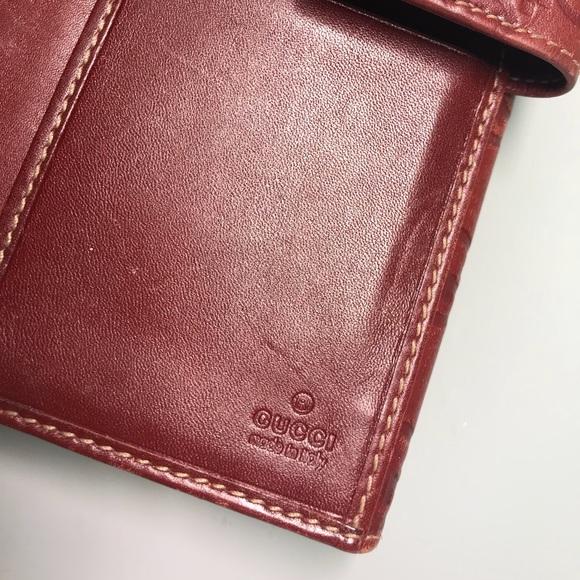 80ba163067b0 Gucci Handbags - Gucci Dark Red Women's Wallet/Signature Collection